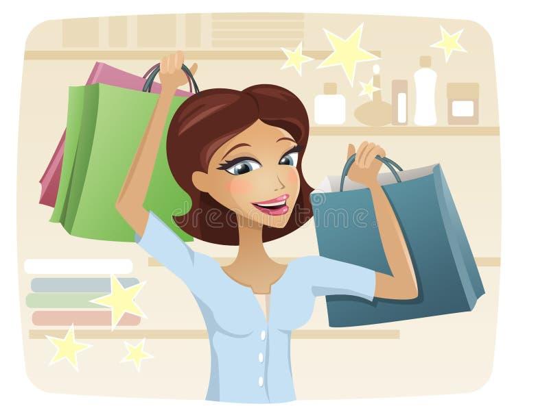 女孩购物 库存图片