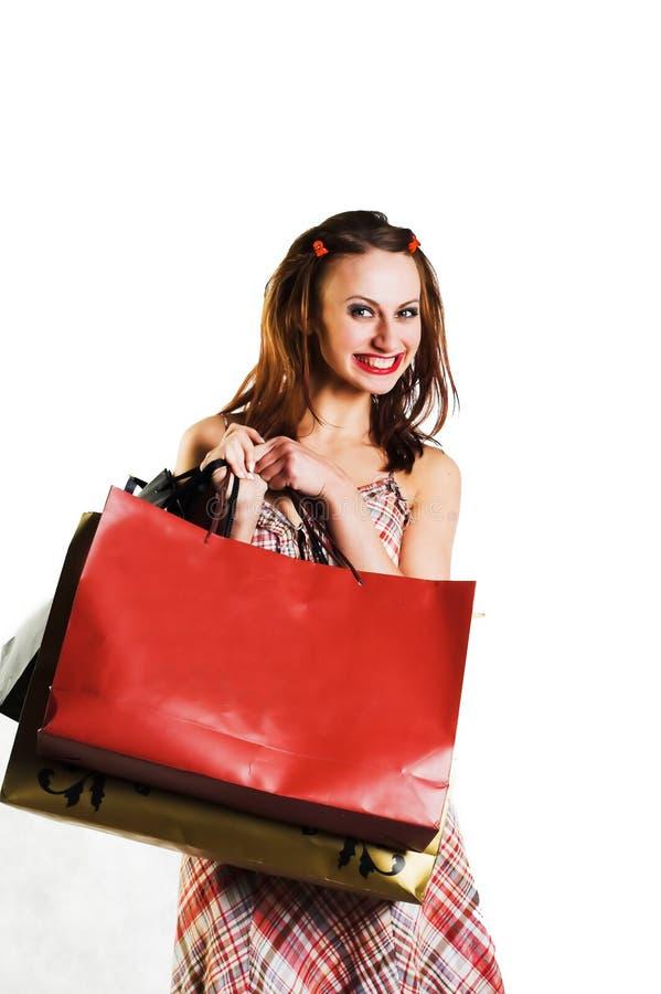 女孩购物 库存照片