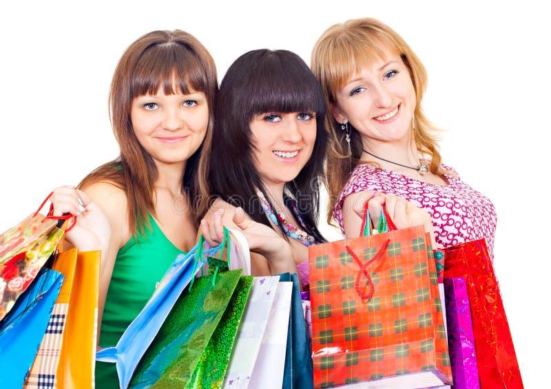 女孩购物 图库摄影