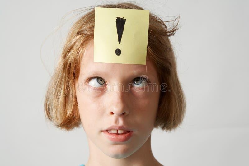 女孩贴纸 免版税图库摄影