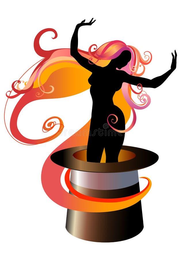 女孩跳舞 向量例证
