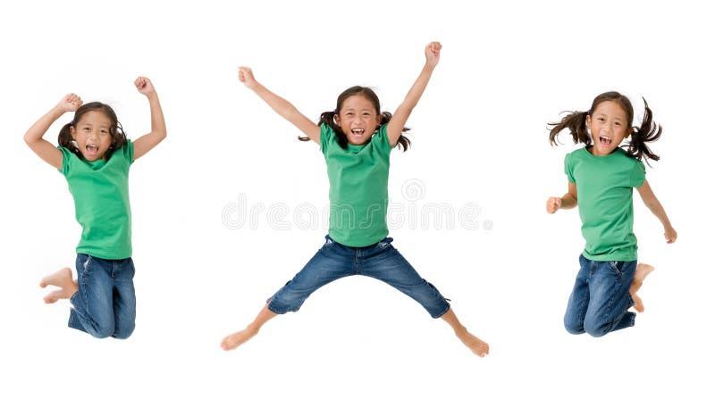 女孩跳 库存图片