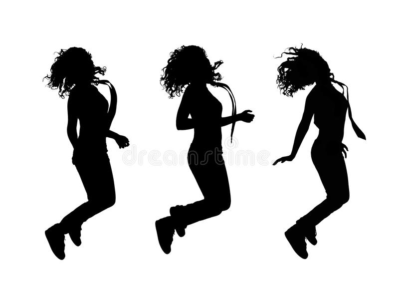 女孩跳 库存照片