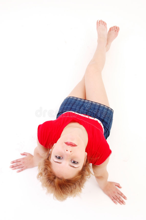 女孩运动的年轻人 库存图片