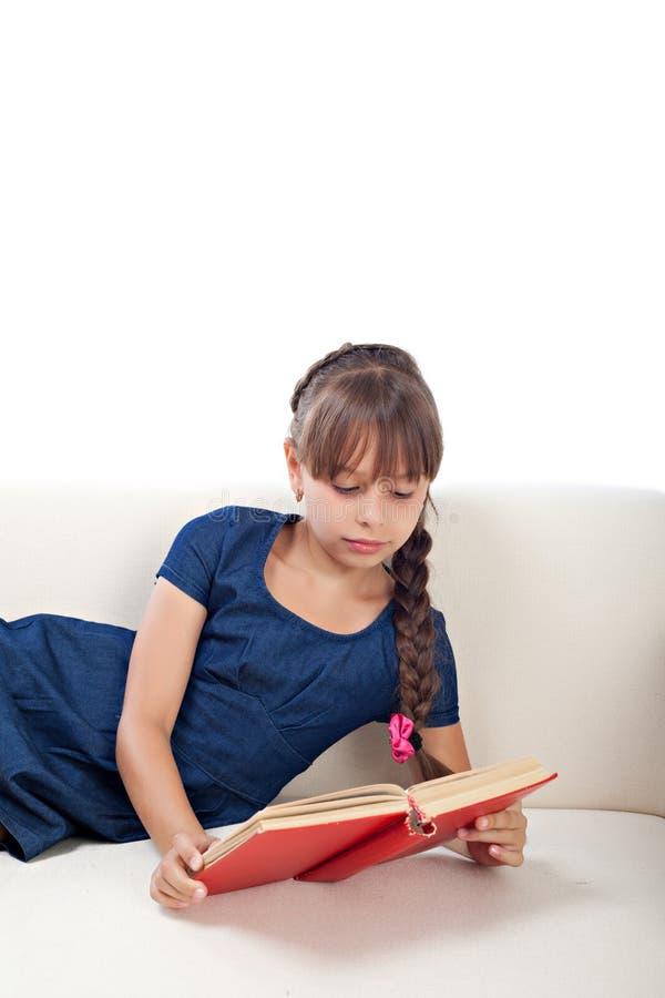 女孩阅读书 库存图片
