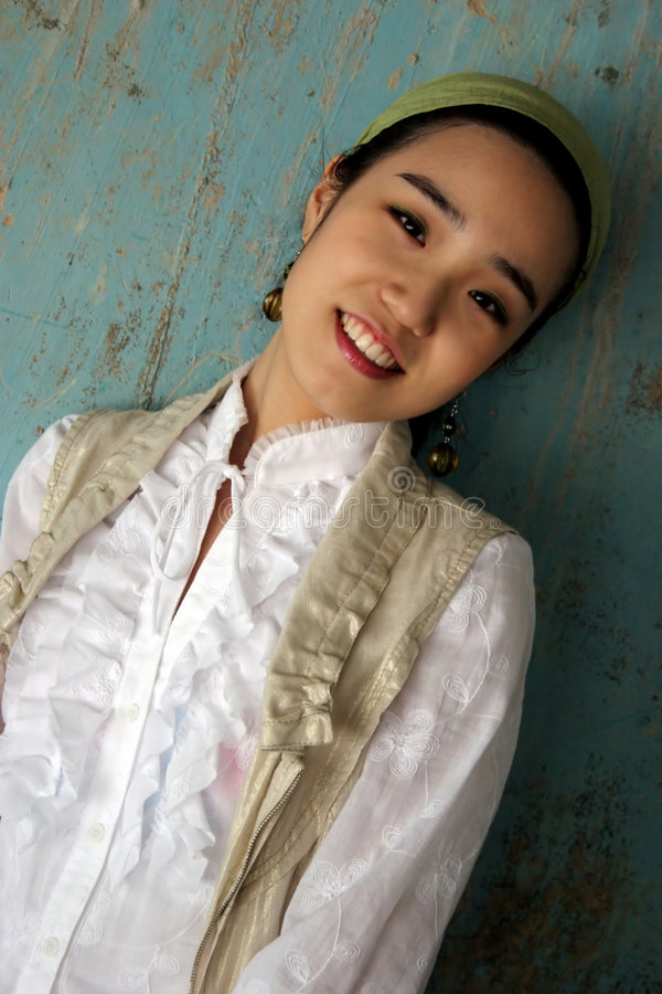 女孩韩文 图库摄影