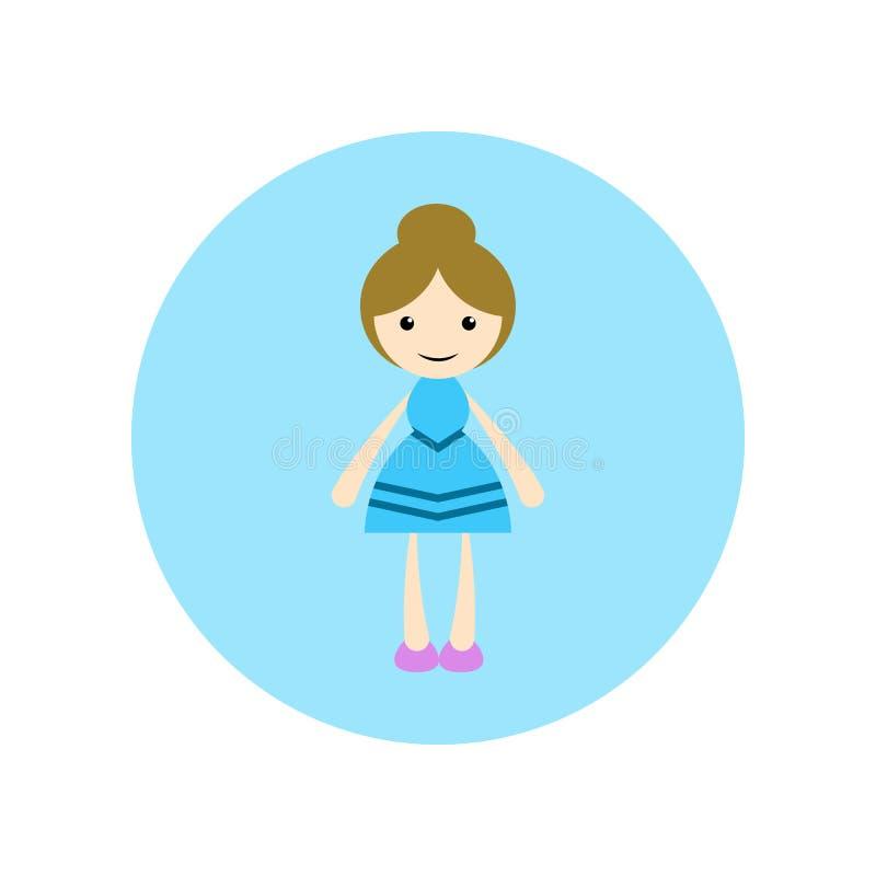 女孩,美好的例证,平的动画片例证 向量例证