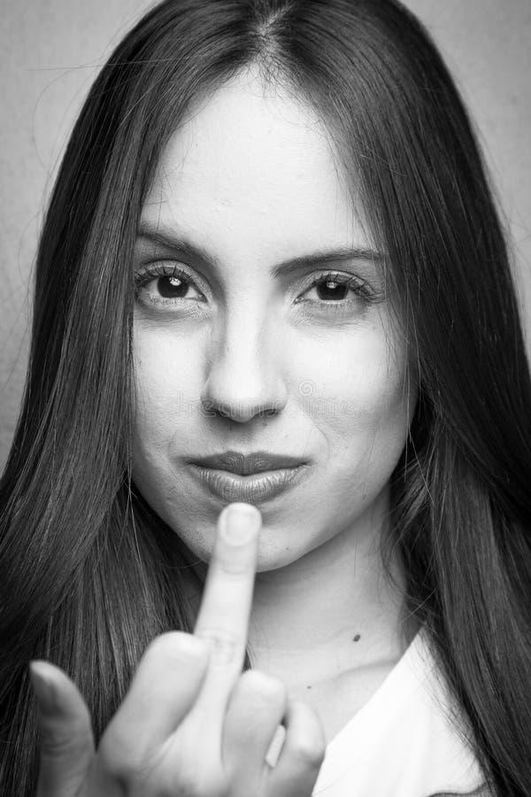女孩画象 免版税图库摄影