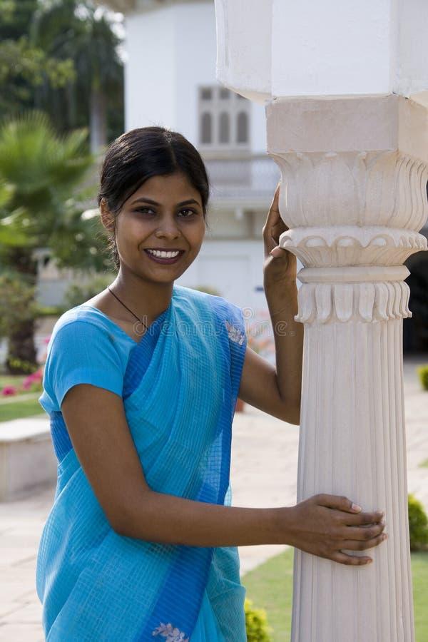 女孩gwalior印度印地安人 免版税库存图片