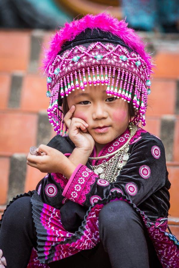 女孩hilltribe泰国 免版税库存照片