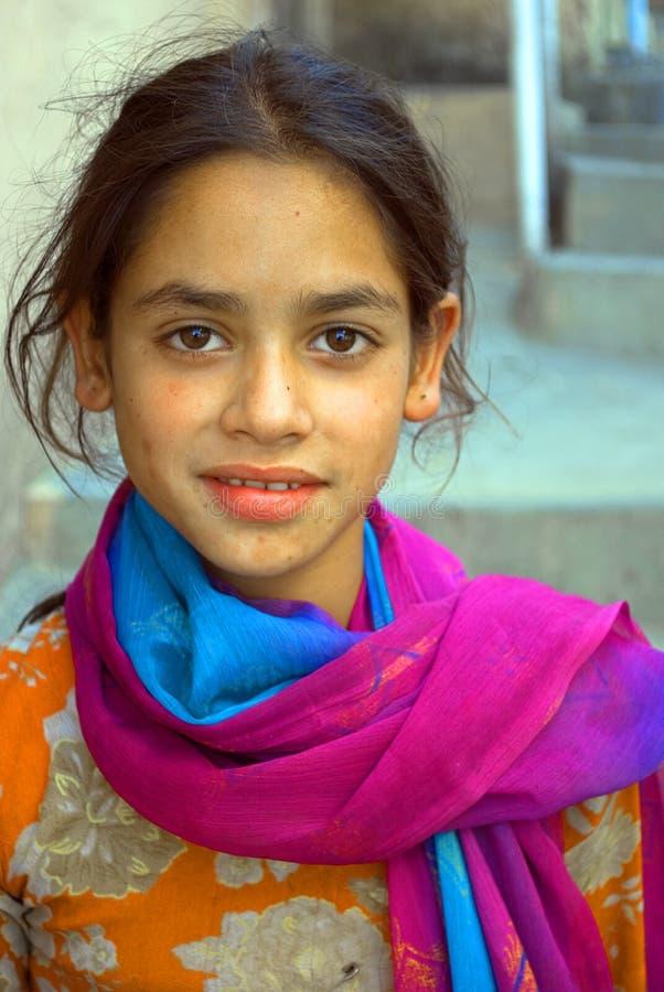 女孩himachal印度年轻人 库存照片