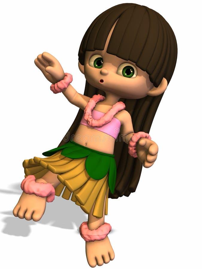 女孩hula印度桃花心木 皇族释放例证