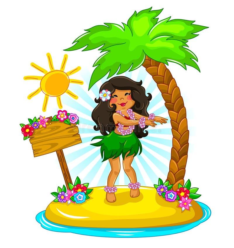 女孩hula 免版税图库摄影