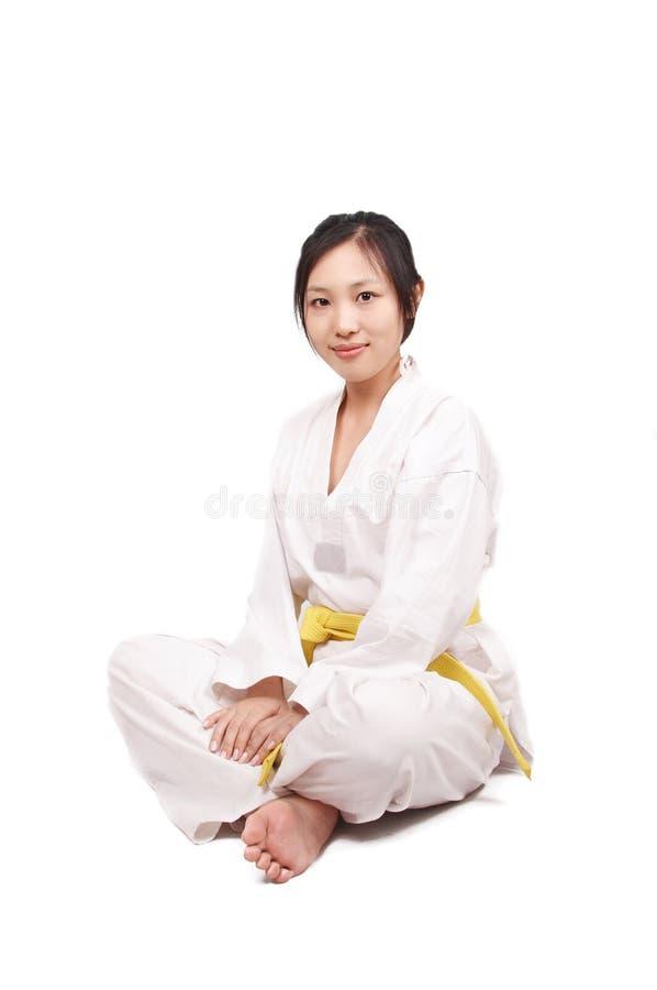 女孩kungfu 图库摄影