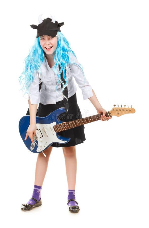 女孩rockstar青少年 免版税库存图片