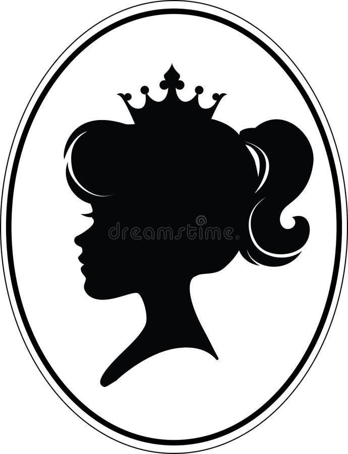 女孩Silhouette公主 皇族释放例证