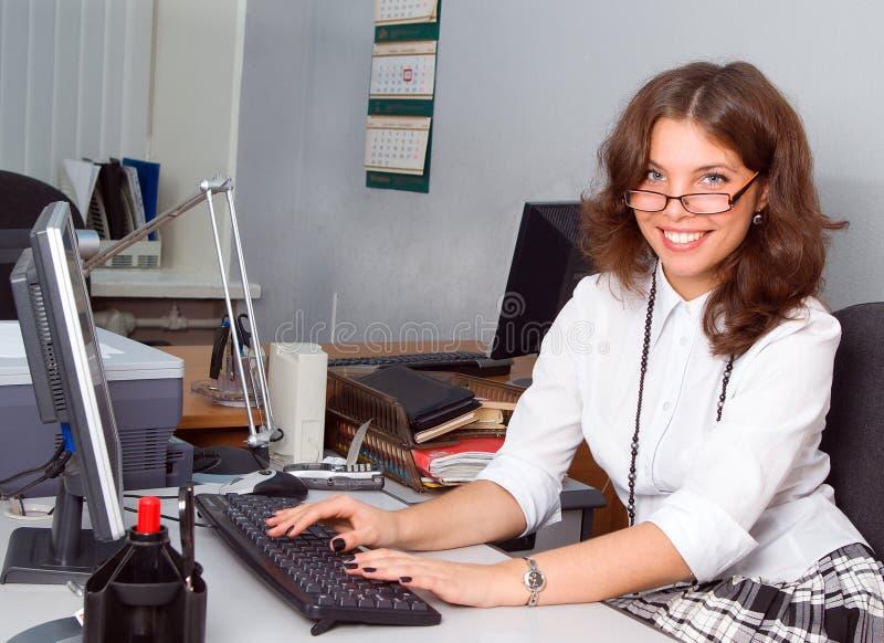 女实业家办公室年轻人 图库摄影