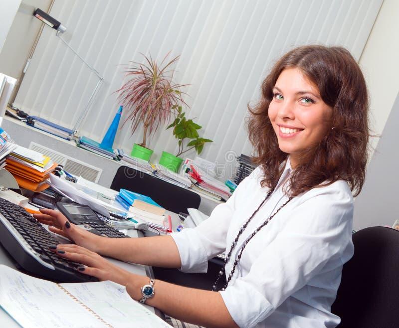 女实业家办公室年轻人 库存图片