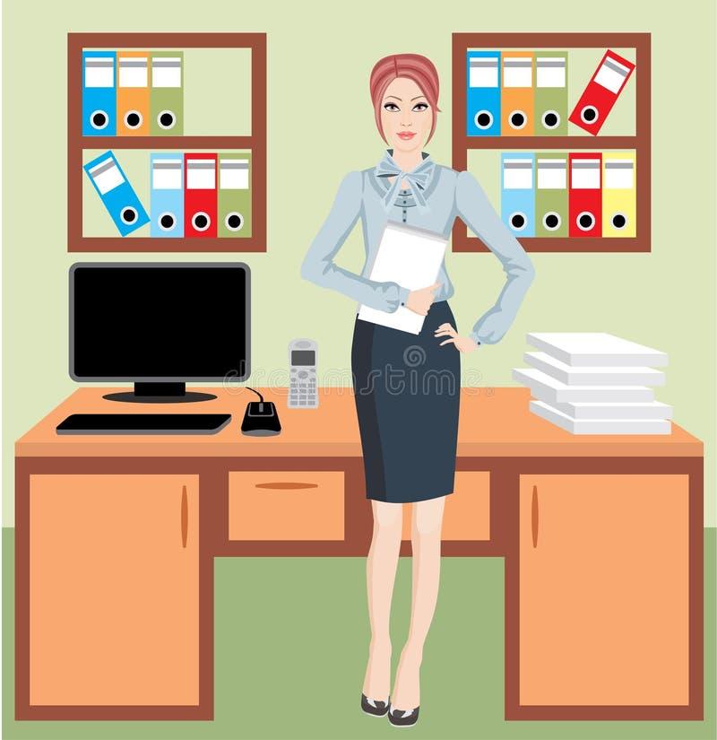 女实业家办公室 皇族释放例证