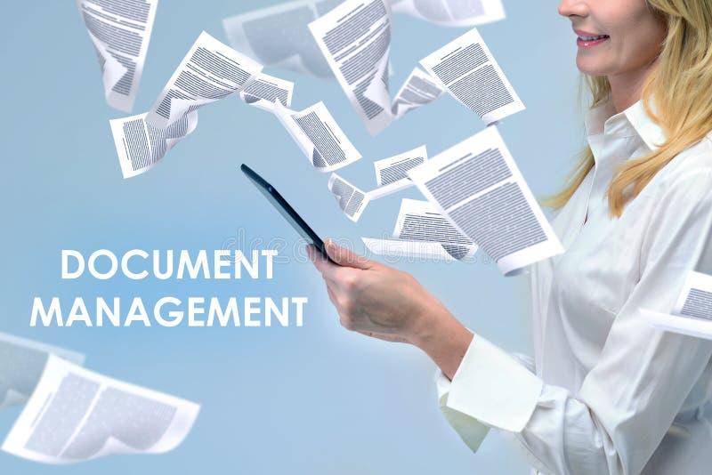 女实业家和文件管理 免版税库存图片
