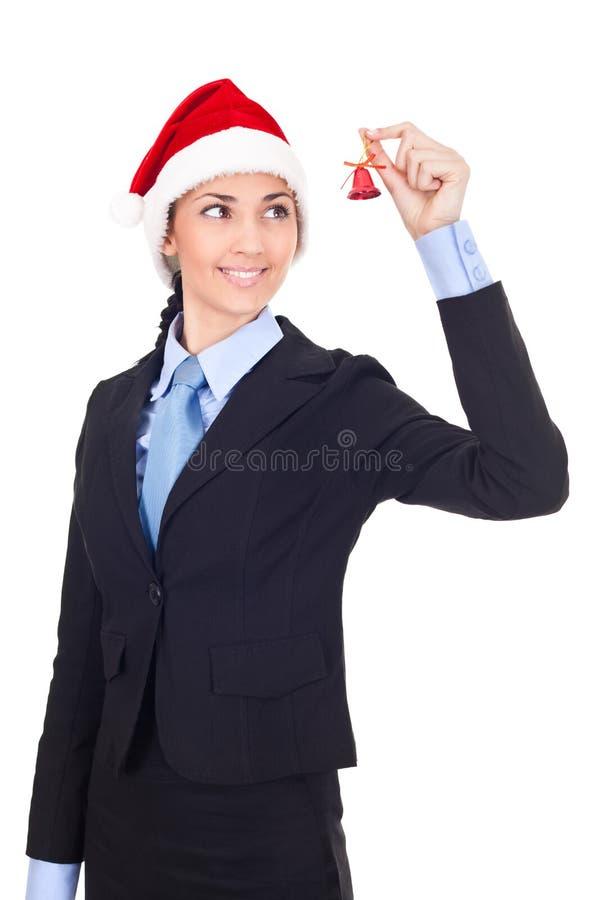 女实业家圣诞节 免版税库存照片