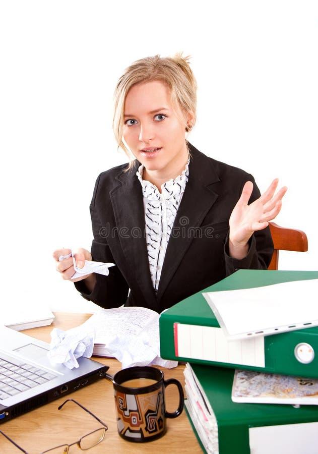 女实业家在办公室 库存图片