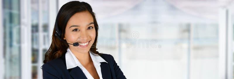 女实业家在工作 免版税库存照片