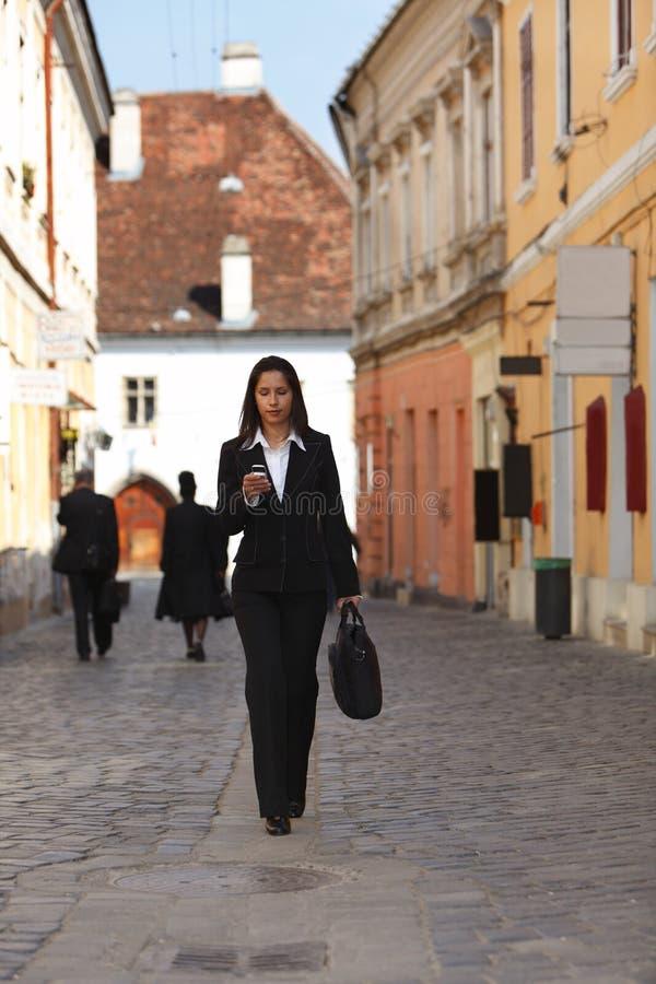 女实业家城市 免版税库存图片
