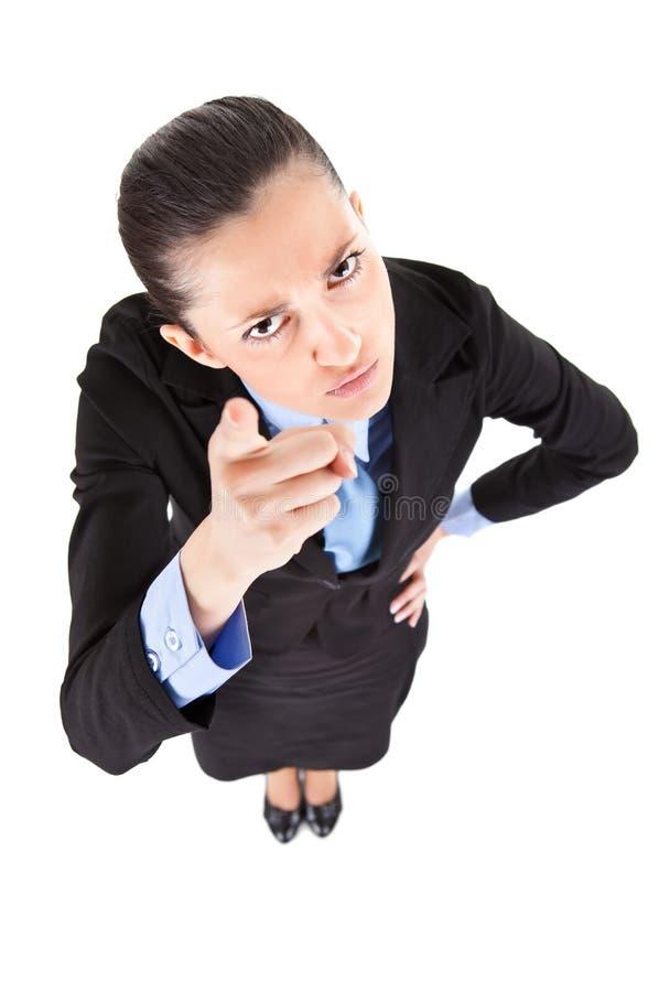 女实业家威胁 库存照片
