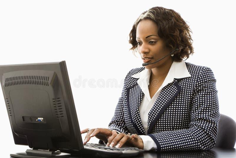 女实业家工作 库存图片