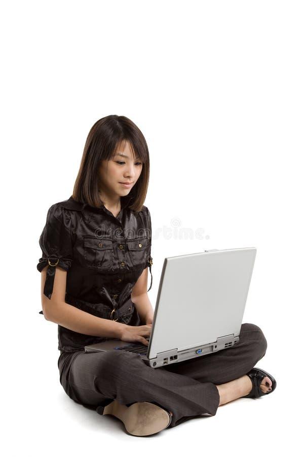 女实业家工作 免版税库存照片