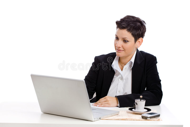 女实业家工作 库存照片
