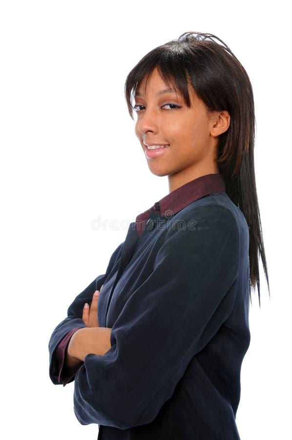 女实业家年轻人 免版税图库摄影