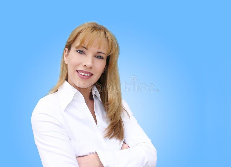 女实业家微笑 库存照片