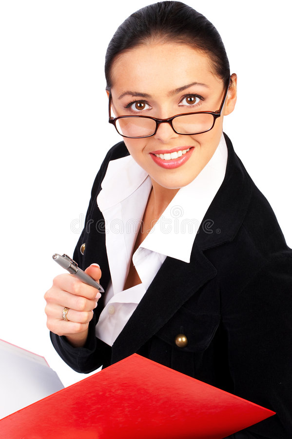 女实业家微笑 免版税库存图片
