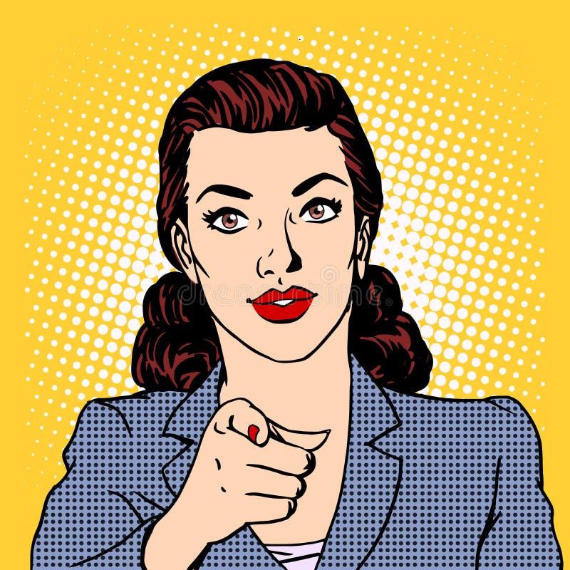 女实业家想要企业概念 向量例证