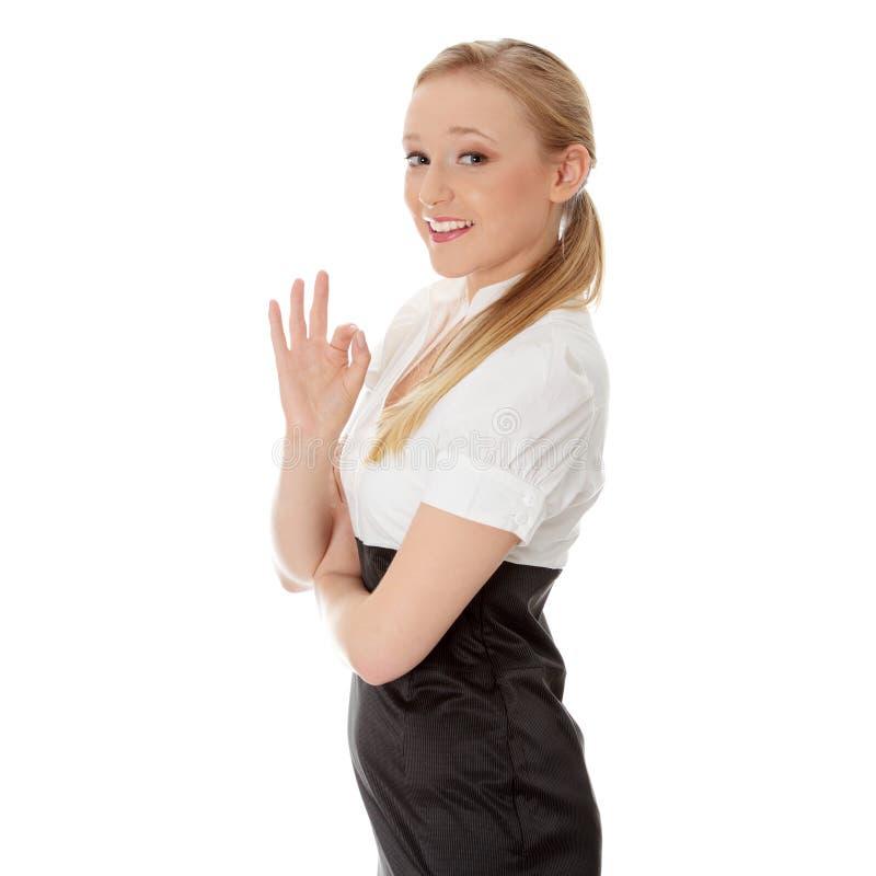 女实业家愉快的年轻人 免版税库存照片