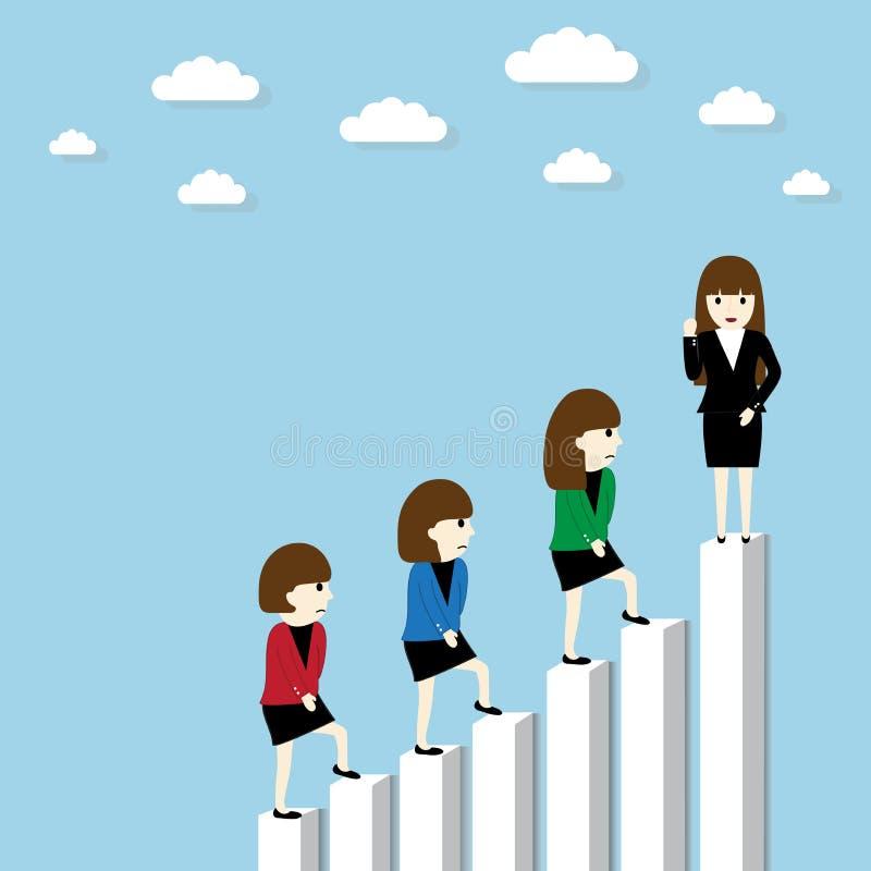 女实业家成功 向量例证