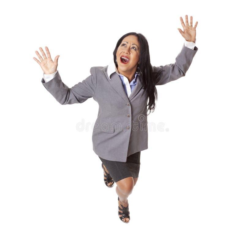 女实业家拉提纳危险 免版税库存照片