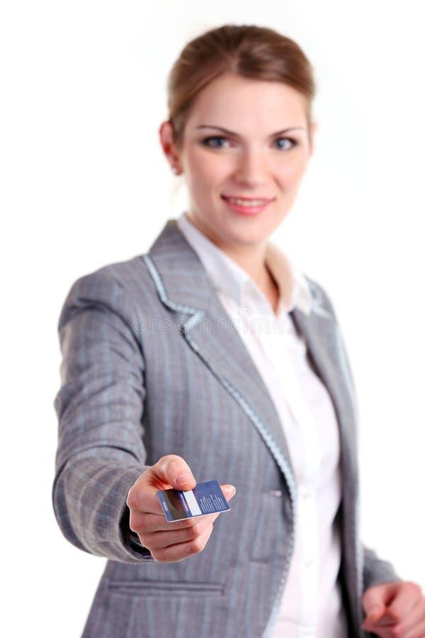 女实业家拟订藏品塑料年轻人 库存照片