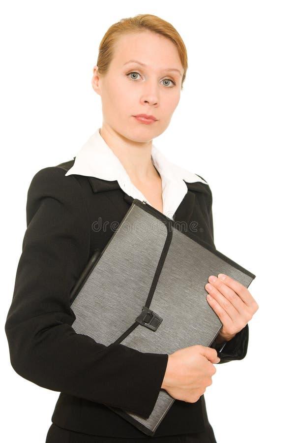 女实业家文件夹 免版税库存照片