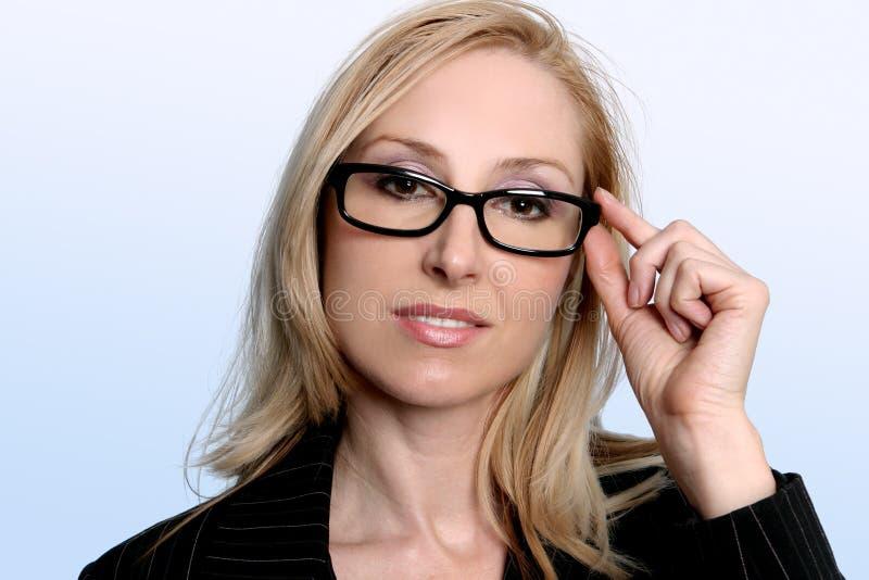 女实业家智能专家 免版税库存图片