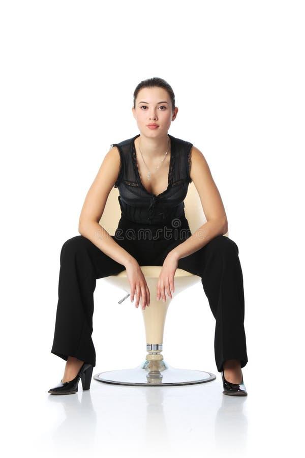 女实业家椅子 免版税库存照片