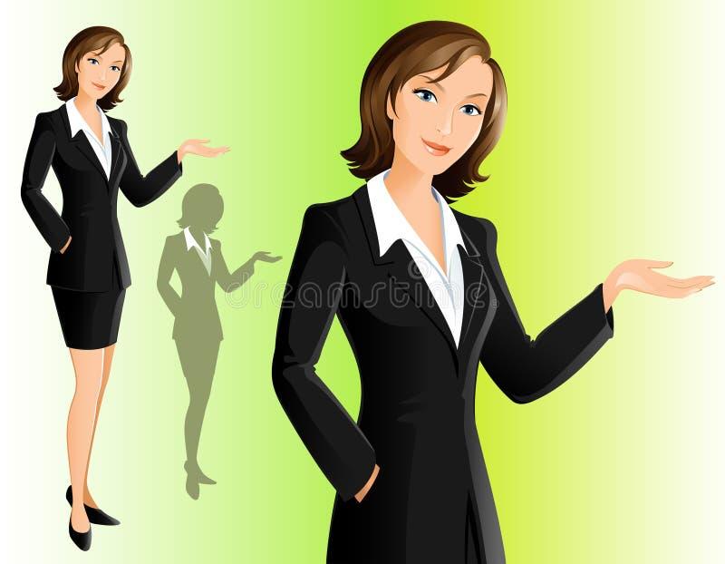 女实业家欢迎 向量例证