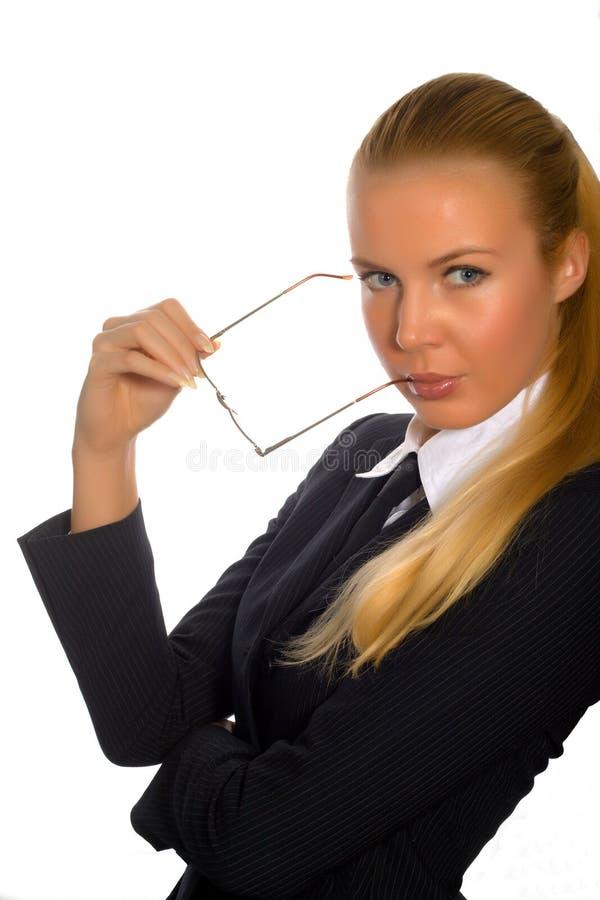 女实业家特写镜头 免版税库存照片
