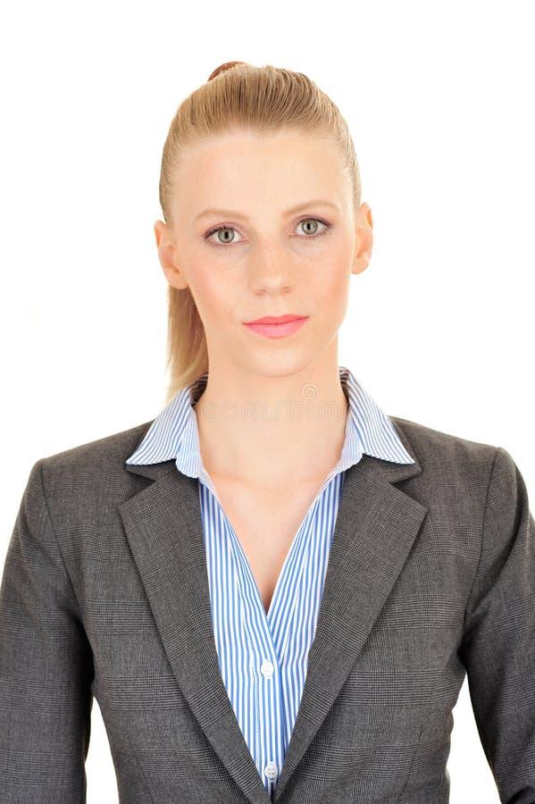 女实业家的Photobooth画象 库存图片