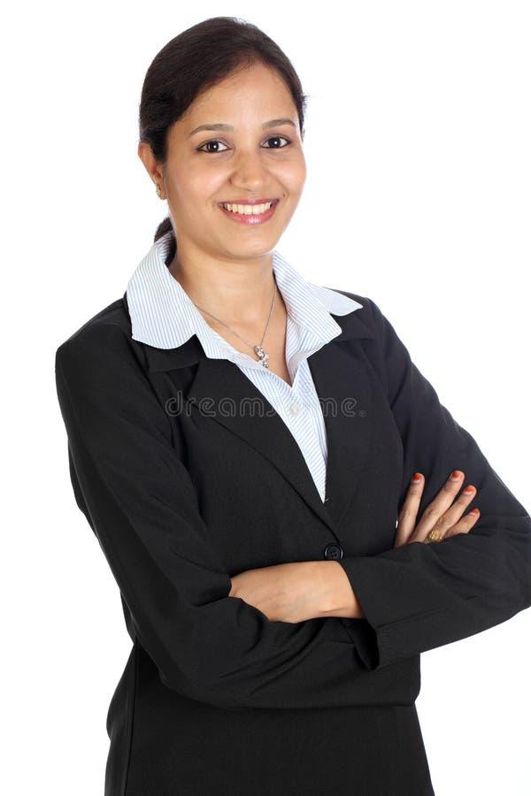 女实业家确信的年轻人 免版税图库摄影