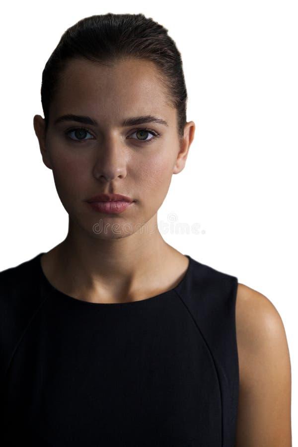女实业家确信的纵向年轻人 图库摄影