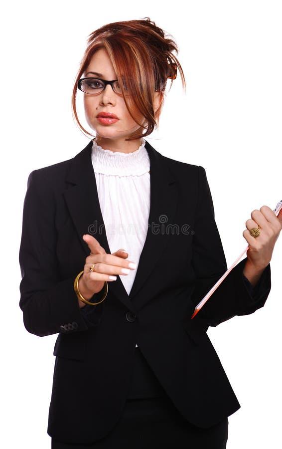 女实业家秘书严重的教师 库存照片