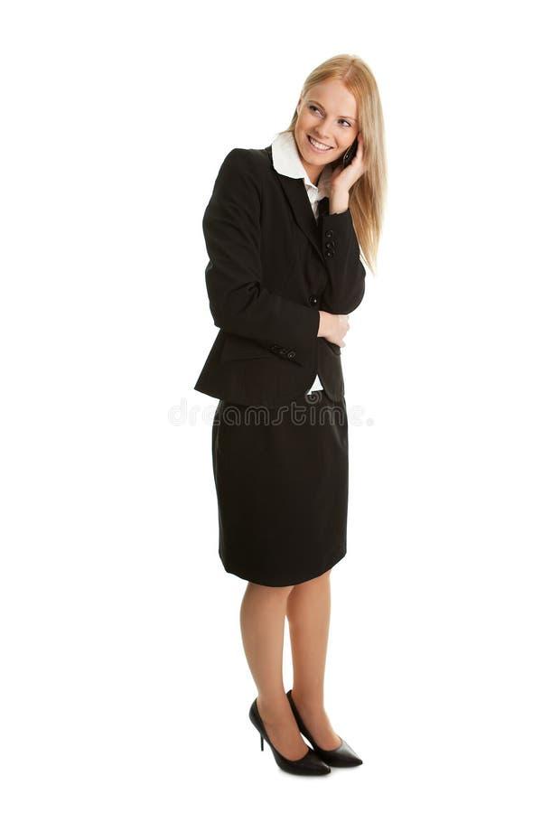 女实业家移动电话联系 库存图片